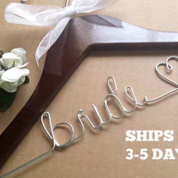 HUGE SALE  Wedding hanger, Bride hanger, Bridesmaid hanger, Personalized wedding hanger, Wedding dress hanger, Custom hangers, Wire hangers