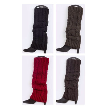 Thick and Warm Cable Knit Leg Warmers