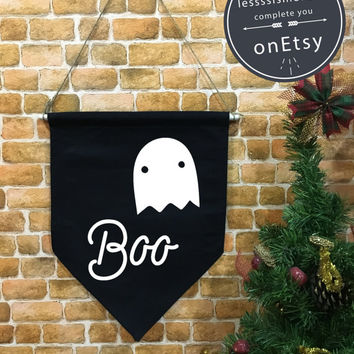 Halloween baner flag hanging wall banner flag, Ghost flag, Halloween Decor, Halloween banner, wall hanging decoration funny gifts