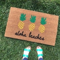 Aloha Beaches Pineapple Doormat