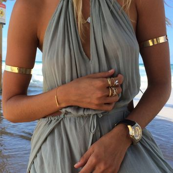 Twin Gold Arm Cuffs | SABO SKIRT
