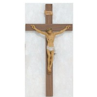 "24"" Walnut with Italian Corpus Crucifix Wall Cross. Perfect for Wedding Gifts, Confirmation, New Home, Rcia."