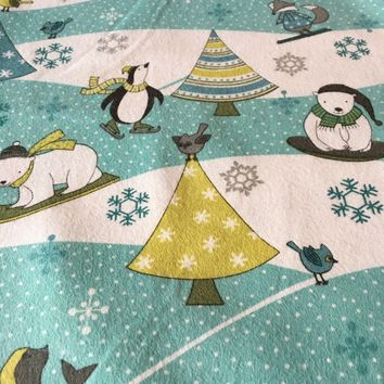 Artic Antics - Flannel Fabric by Debbie Mumm for Wilmington Prints Fabrics 1/2 yd