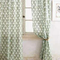Shimmering Jacquard Curtain by Anthropologie