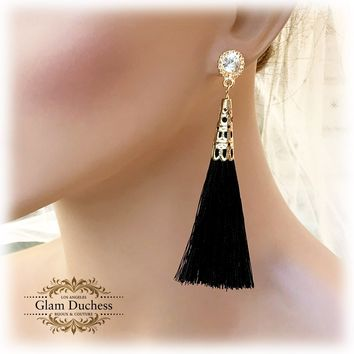 Bridal Long Tassel Fashion Earrings