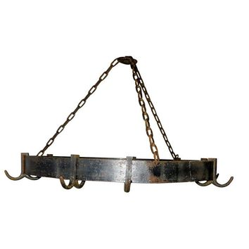 Pre-owned Hand Wrought Iron Pot Rack