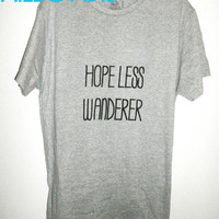 Mumford & Sons Inspired HOPELESS WANDERER unisex crew neck t shirt