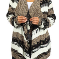 Plus Tribal Stripe Cardigan