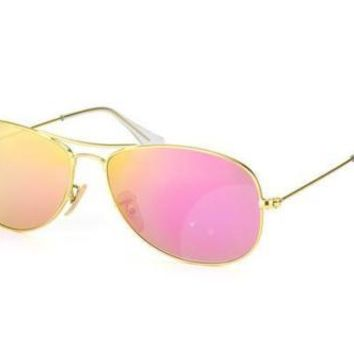 NEW Genuine Ray Ban RB3362 1124T Matte Gold Pink Mens Womens Sunglasses Glasses