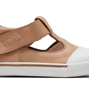 TOMS - Early Walker Honey Synthetic Suede Joon Flats