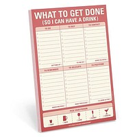 What To Get Done (So I Can Have a Drink) Stationery Notepad in Sweet Vermouth Red