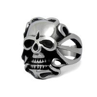 Roar skull ring titanium steel is not allergic do not fade SA574