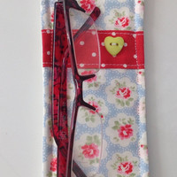 Cath Kidston Blue Provence Fabric Glasses Case - Handmade in Scotland - Gift for Mom, Ladies gift, Mother' s Day