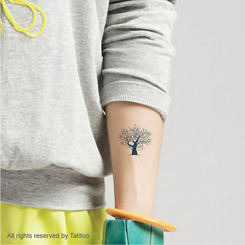 Tree,  3pcs- Temporary Tattoo T313