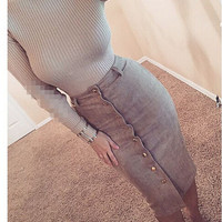 Fashion Rivet Skirts Pencil Skirt L816035