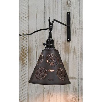 Punched Tin Pendant Light