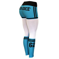 Six Deuce Baby Blue Mesh-Tech X-Fit Fitness Leggings