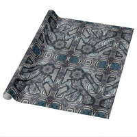 Grey Living Metal No 2 Wrapping Paper