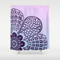 Floral Blush Shower Curtain by Inspired Images