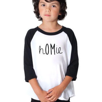 4T Kids Raglan Yoga T Shirt, Kids Graphic Tee, Childrens OM Tshirt, American Apparel Graphic Tshirt, hOMie Tshirt, Kids Yoga Clothing