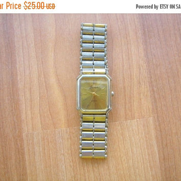 SALE Vintage Jacmor Quartz Gold tone Mens Wristwatch