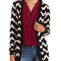 Chevron Stripe Grandfather Cardigan: Charlotte Russe