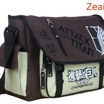 Cool Attack on Titan Anime no  Shoulder Bag  Sling Pack School Bags Messenger Bag Travel Male Men's Bag AT_90_11