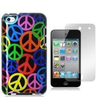 SODIAL(R) Peace Sign Design Crystal Hard Skin Case Cover for Apple Ipod Touch iTouch 4th Generation 4g 4 8gb 32gb 64gb New By Electromaster