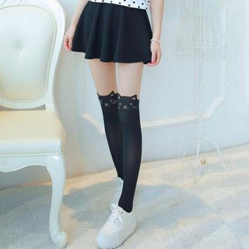 Trendy Sexy Women Cat Tail Gipsy Mock Knee High Hosiery Pantyhose Panty Hose Tattoo Tights High Quality Fashion Accessory