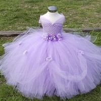 Girl's Tulle Flower Girl Gown, Formal Party Tutu Dress