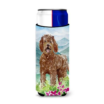 Mountain Flowers Labradoodle Michelob Ultra Hugger for slim cans CK2532MUK