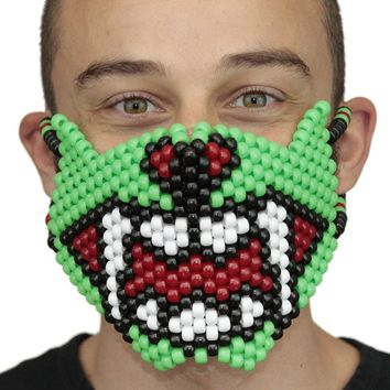 Green Fang Monster Full Kandi Mask