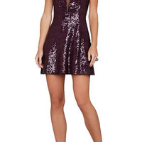 BCBG Selina Sleeveless Plunging V-Back Dress
