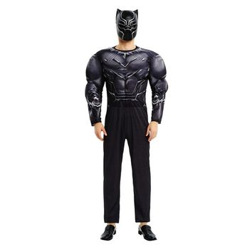 New Arrival Adult Muscle Deluxe Black Panther Costume Marvel Movie The Avengers Superhero Cosplay For Party