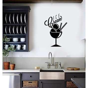 Vinyl Decal Wall Sticker Ice Cream Sweet Home Decor for Kitchen Unique Gift (g065)
