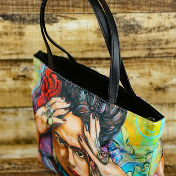 Frida Kahlo Purse - Frida HandBag - Frida Kahlo Shoulder Bag - Frida Kahlo Art - Chicana Art - Gifts for Her - Mexican Folk Art - Frida Bag