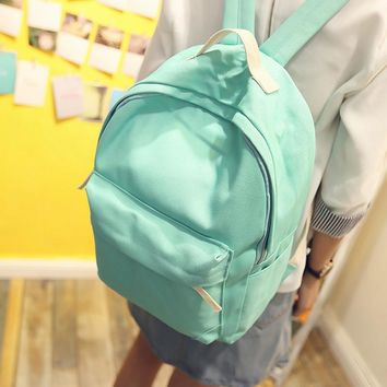 2016 New Japanese Canvas Solid School Backpack For Women Young Girl Hot Lona Mochila Feminina Women Backpacks
