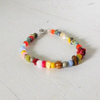"""9 1/2"""" Boho Anklet Beach Jewelry Beaded Anklet Rasta Jewelry Assorted Colors Sundance Style Beach Anklet"""