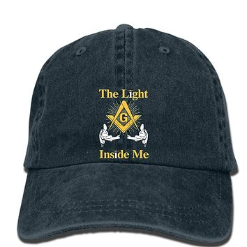The Light Inside Me Masonic Symbol Adjustable Baseball Cap
