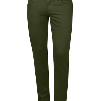 LE3NO Mens Colored Skinny Cotton Twill Jean Pants (CLEARANCE)