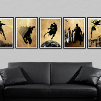 "Justice League Posters - Batman, Flash, Superman, Wonder Woman, Green Lantern 5 X A3 posters(each one 16,5"" x 11,7'')"