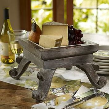 Marble Top Cheese Pedestal | Pottery Barn