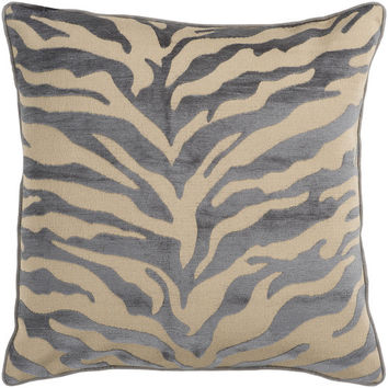 Animal Pattern Accent Pillow in Tan and Grey design by Surya