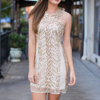 Shimmy And Shine Dress, Gold
