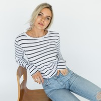 Ryan Long Sleeve Striped Top - Luca + Grae