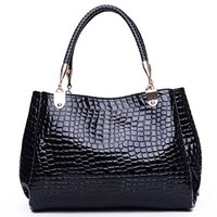 Women's Ladies Fashion Simple Stone Pattern Shoulder Bag Handbag Tote