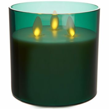 Luminara Tri-Wick Rechargeable Candle - Forest Green