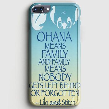 Ohana Means Family Lilo And Stitch iPhone 8 Plus Case | casescraft
