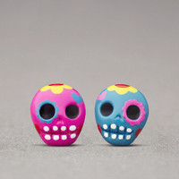 Day Of The Dead Earrings - Halloween Jewelry, Sugar Skulls, Costume Accessories
