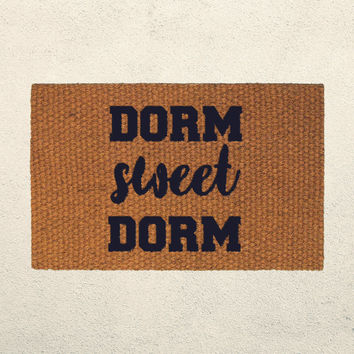 Dorm Sweet Dorm Doormat – Welcome Mat - Hand Painted Outdoor Rug – Welcome Mat - Dorm Decor - College Sudent Gift - College Dorm Decorations